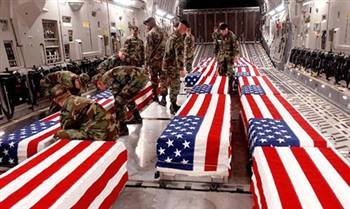 Coffins of Soldiers Killed in Iraq