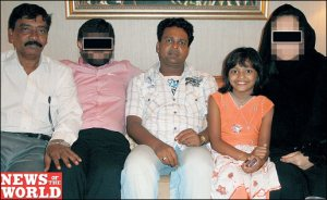 Uncle, Undercover Team, Rubina's father (to her left), Rubina Ali