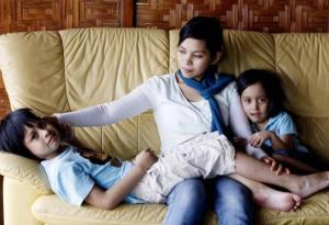 Kartika Sari Dewi Shukarno with children Muhammad and Kaitlynn - Source: The Independent