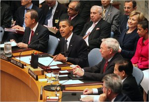 President Obama at UN Security Council Mtg (Doug Mills, NY Times)